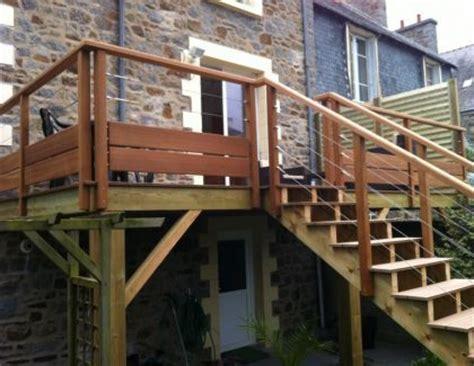 garde corps bois bretagne escaliers reux