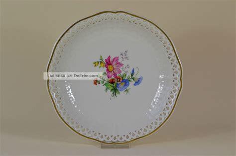 Porzellan Teller by Teller Kpm Berlin Bemalt Blumen Plate