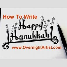 How To Write Happy Hanukkah  Calligraphy Letters Youtube