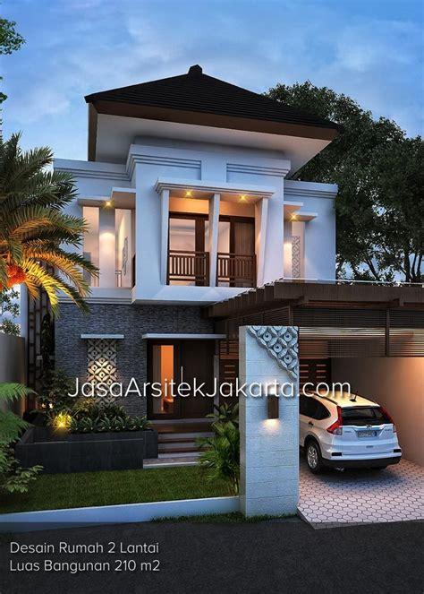 desain rumah 2 lantai luas bangunan 210 m2 bp edwin