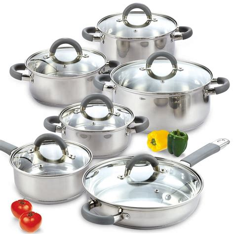 cookware cook silver lids piece sets depot