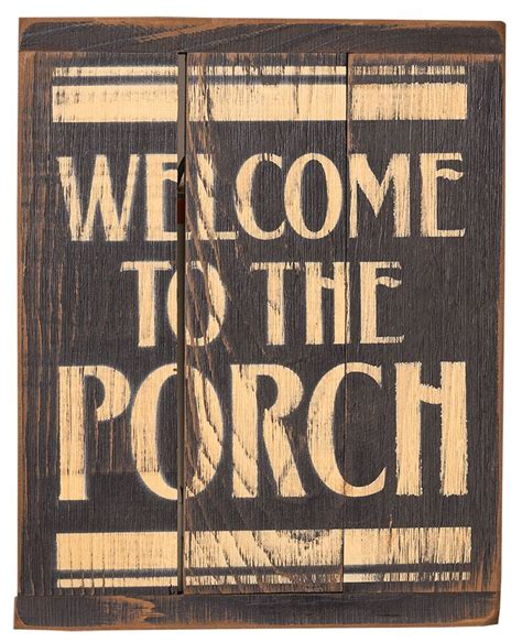 Primitive Rustic Home Decor Signs Welcome The Porch