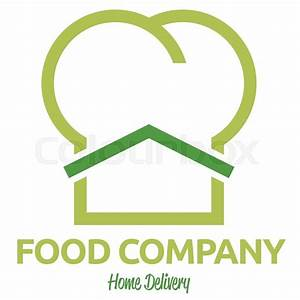 Food delivery service company logo template | Stock Vector ...