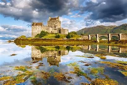 Donan Castle Eilean Scotland Lake Bridge Wallpapers
