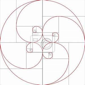 Goldener Schnitt Verhältnis : fibonacci spirale goldener schnitt wandposter poster fi verh ltnis rechteck ~ Watch28wear.com Haus und Dekorationen