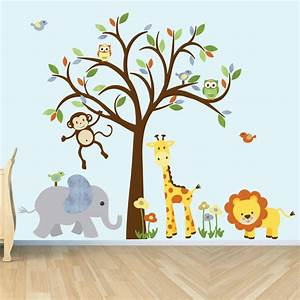 wall decal jungle animal sticker nursery decor giraffe With jungle wall decals