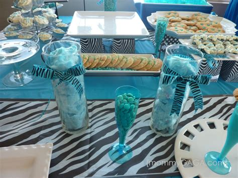 zebra blue unique baby shower theme  boys unique