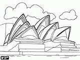 Sydney Opera Coloring Drawing Colouring Australia Harbour Bridge Famous Printable Adult Sketches Landmarks Around Places Drawings Oceania Sketch 250px 03kb sketch template