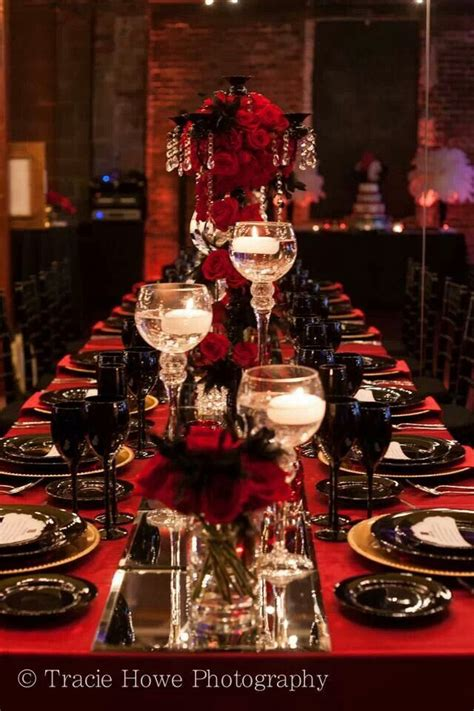 red and black table ls stunning and elegant black candelabra with red roses and