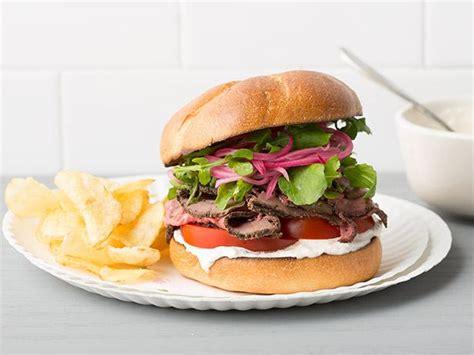 roast beef sandwiches recipe food network kitchen food