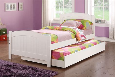 ikea platform bed poundex youth bedroom trundle bed in white solid wood