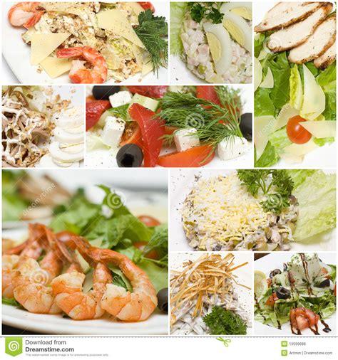 cucina europea collage gastronomico delle insalate cucina europea