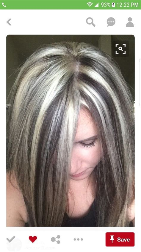 pin  kay cee  chunky blonde highlights pinterest