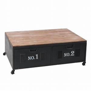 Table Basse Loft : table basse avec casiers en m tal de style industriel ~ Teatrodelosmanantiales.com Idées de Décoration