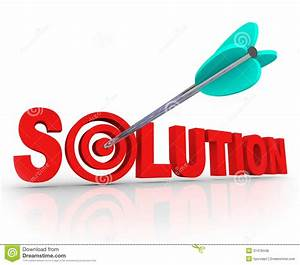 Solution Word 3d Letters Solved Problem Arrow Target Bulls