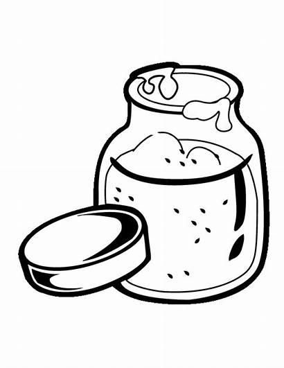 Jam Jar Coloring Clip Clipart Cookie Pages