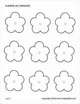 Flower Printable Templates Template Paper Lei Coloring Craft Printables Firstpalette Outline Flowers Leaf Nature Felt Foam Sheet Crafts Own sketch template