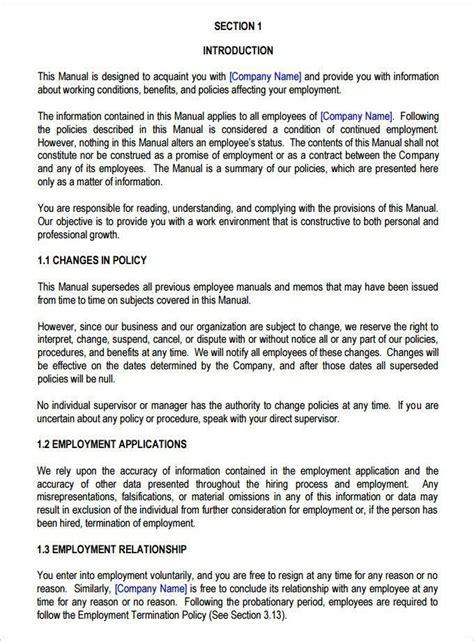 employee handbook template fantastic employee manual