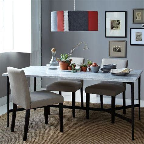 mix match table cast metal base marble top west elm