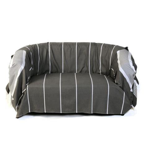 jeté de canapé coton 103 jete de canape coton jet de canap couvre lit noir