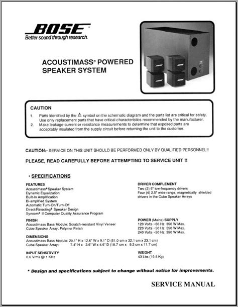 Bose Amp Acoustimass Powered Speaker System Analog Alley