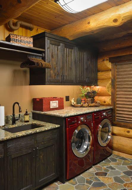 Star Prairie Lake Home  Rustic  Laundry Room