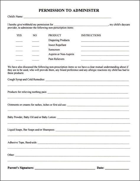 home daycare forms printable 1000 ideas about daycare forms on pinterest daycare
