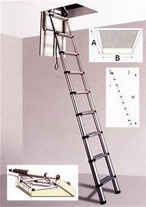 Escalier Escamotable Grenier : echelles escamotables de grenier aluminium bois ou ~ Melissatoandfro.com Idées de Décoration
