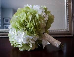 Wedding Bouquet Green and White Hydrangea Bridal Bouquet