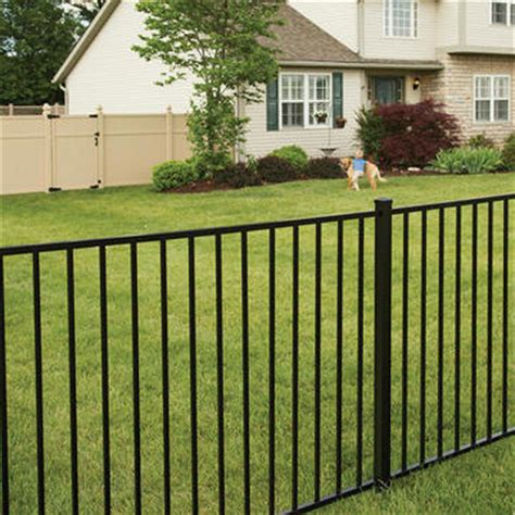 material for fences fence materials aluminum vinyl fence freedom outdoor living for lowes