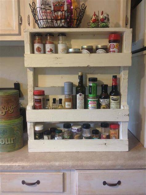 Pallet Spice Rack by Pallet Spice Rack For Kitchen Pallet Furniture Diy