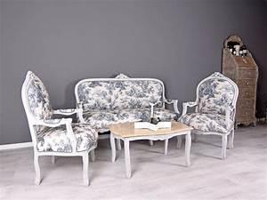 Sessel Shabby Chic : salon garnitur sitzgruppe toile de jouy sofa sessel shabby chic sofagarnitur ebay ~ Eleganceandgraceweddings.com Haus und Dekorationen
