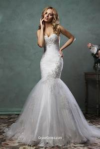 stylish strapless sweetheart neckline tulle mermaid With stylish wedding dresses