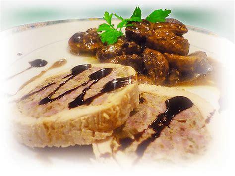 recette de cuisine gastronomique roulé de dinde farci chignons de et petits
