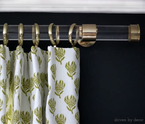 acrylic curtain rods  brass hardware driven  decor