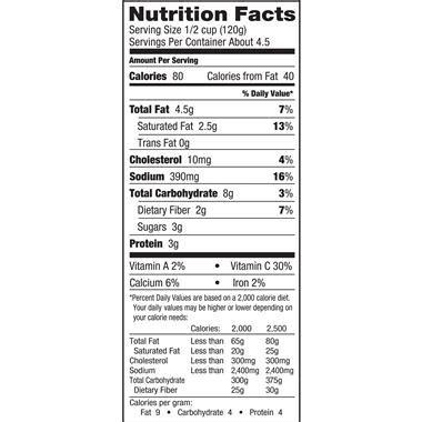 birds eye cauliflower mash nutrition facts nutritionwalls