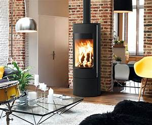 Poele A Bois Rouge : po le bois maud design contemporain fireplace ideas ~ Dailycaller-alerts.com Idées de Décoration