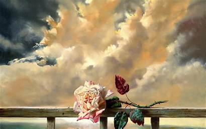 Paintings Romance Flowers Mood Sky Wallpapers Backgrounds