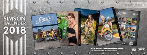 simson kalender 2017 simson erotikkalender und vogelserie kalender 2018