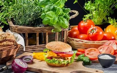 Burger Fresh Wallpapers Hamburger Ingredients Burgers Background