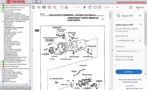 toyota hiace repair manual pdf