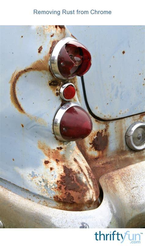 rust chrome removing