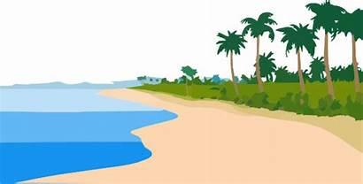 Beach Sky Clip Sand Clipart Clker Vector