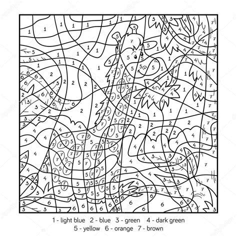 Kleurplaat Nummer Tekening by Kleuren Op Nummer Giraf Stockvector 169 Ksenya Savva