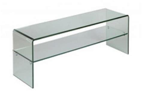 meuble tele en verre petit meuble t 233 l 233 en verre coins arrondis quot cl 233 o quot