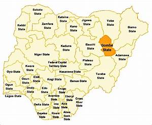 Map Of Nigeria Showing Gombe State  Source  Google Maps