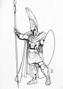Ares Greek God Of War Drawings Sketch Coloring Page