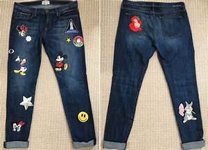 DIY Disney Patched Denim Jeans