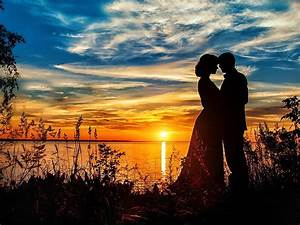 Romantic, Love, On, The, Beach, Gold, Sunset, Lake, Handsome
