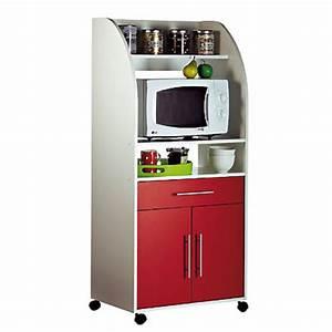 Meuble Cuisine Micro Onde : meuble micro ondes 2 portes 1 tiroir ciboulette blanc rouge frais de traitement de commande ~ Teatrodelosmanantiales.com Idées de Décoration